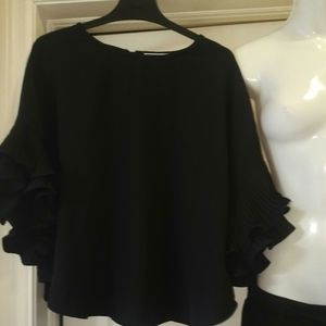 Suzy sheer two piece pant an blouse very nice new
